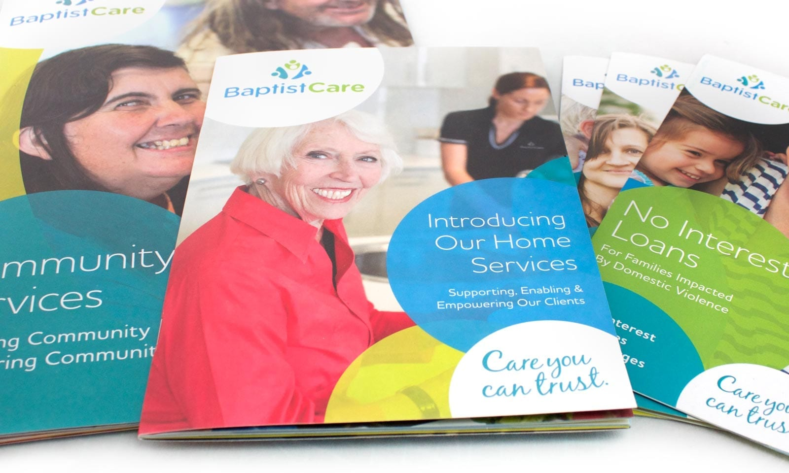BaptistCare collateral and stationary branding.