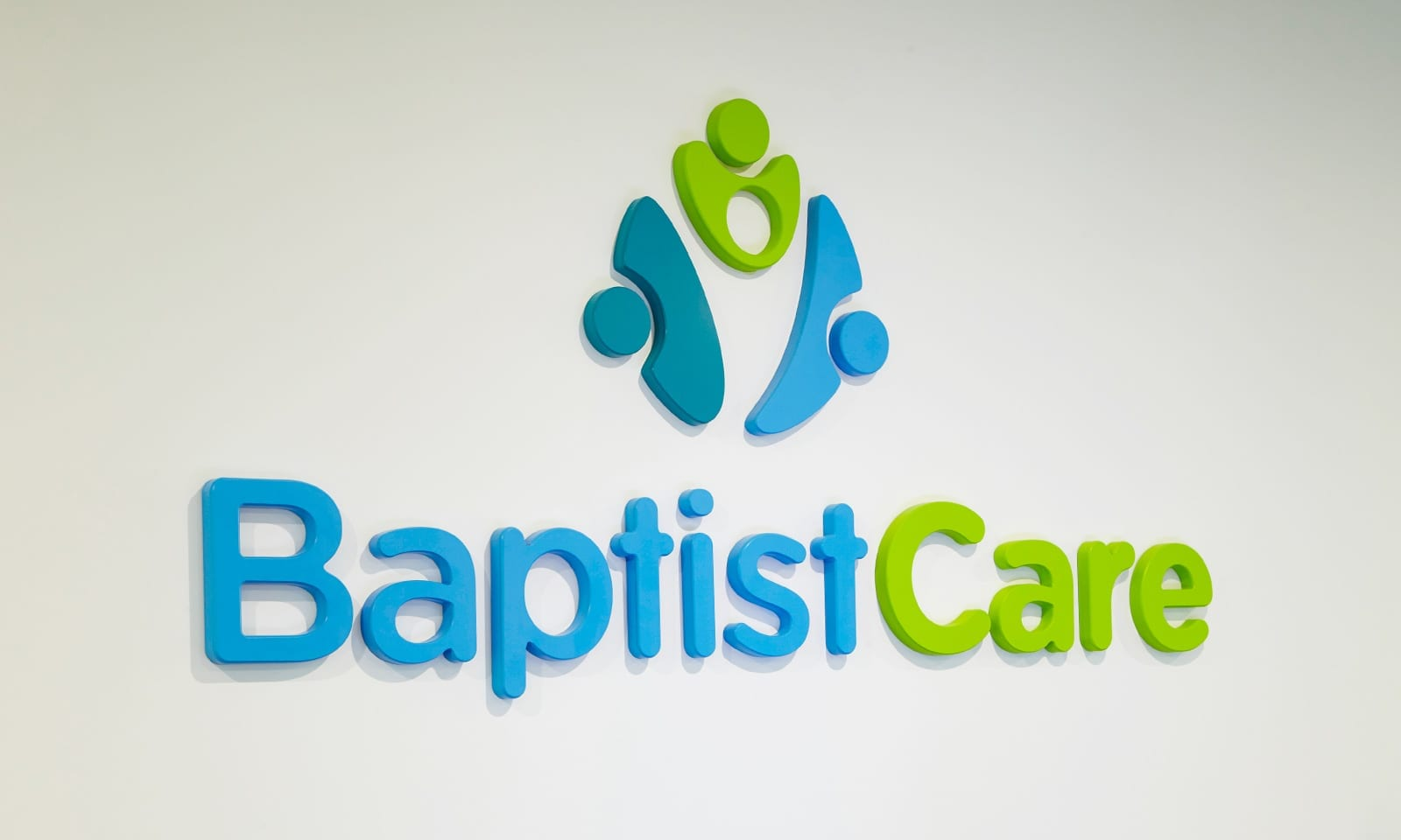 BaptistCare master branded reception.