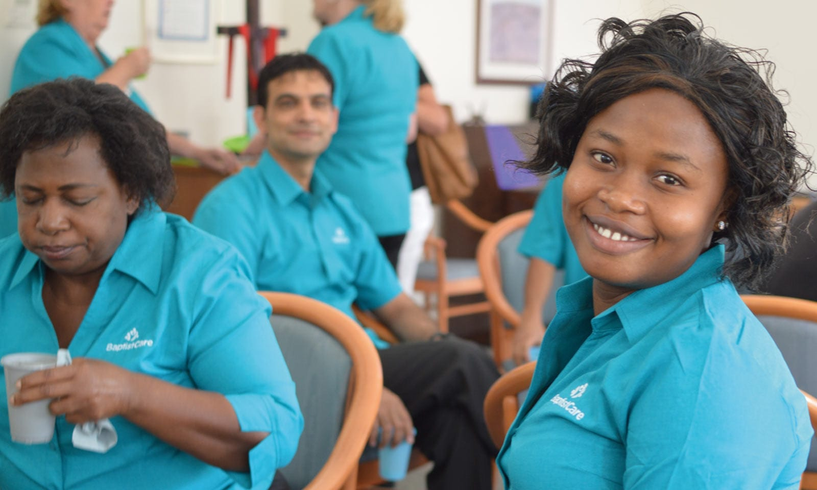 Branded Uniform design Sydney, BaptistCare uniforms and P2P branding for over 5000 employees.