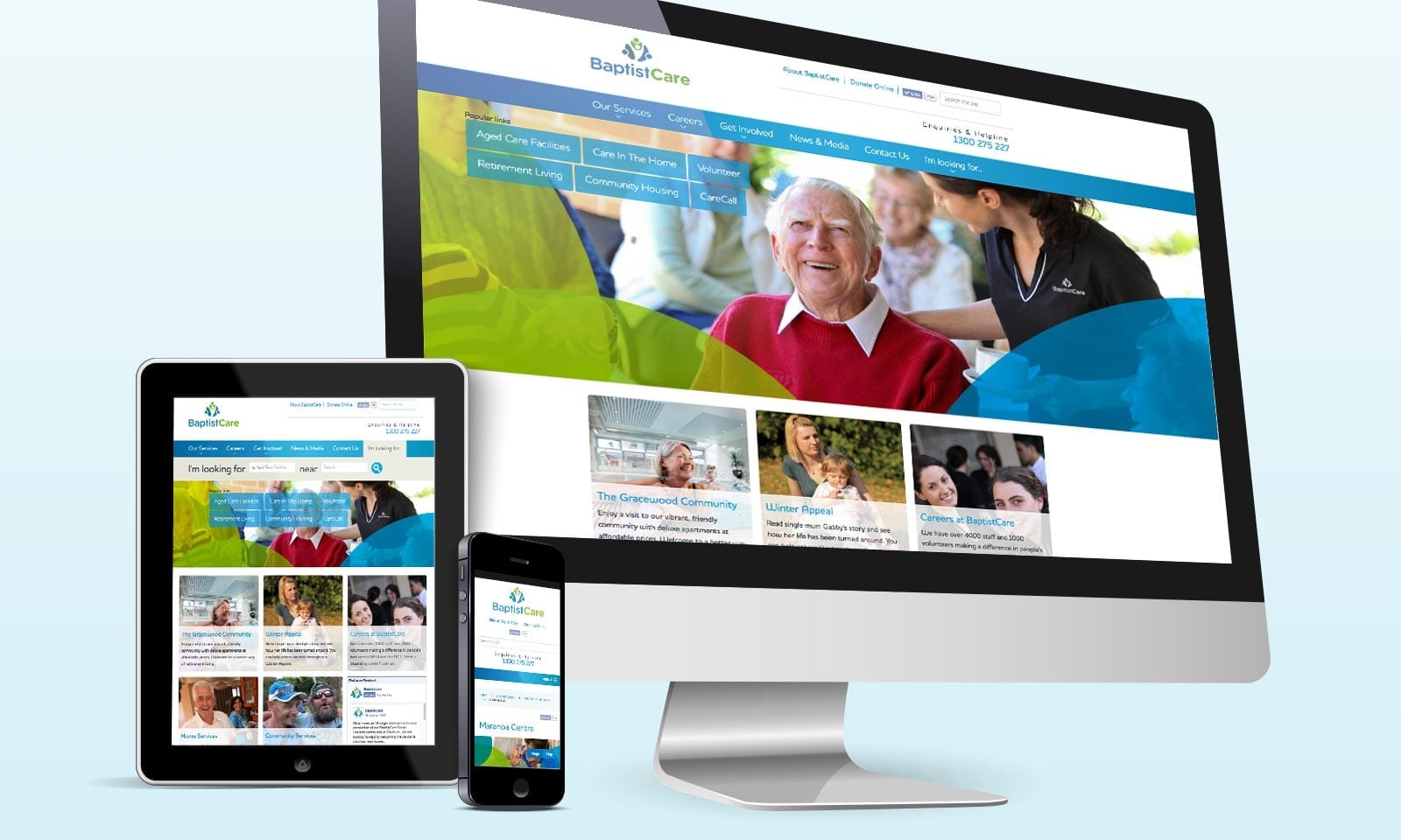 BaptistCare responsive website.