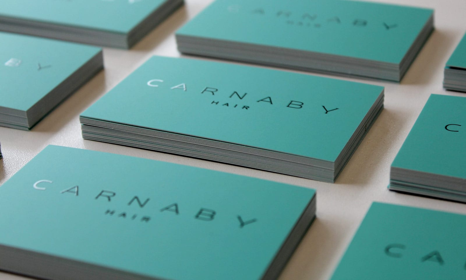 New look and feel for company sydney, Carnaby Hair branding stationary.