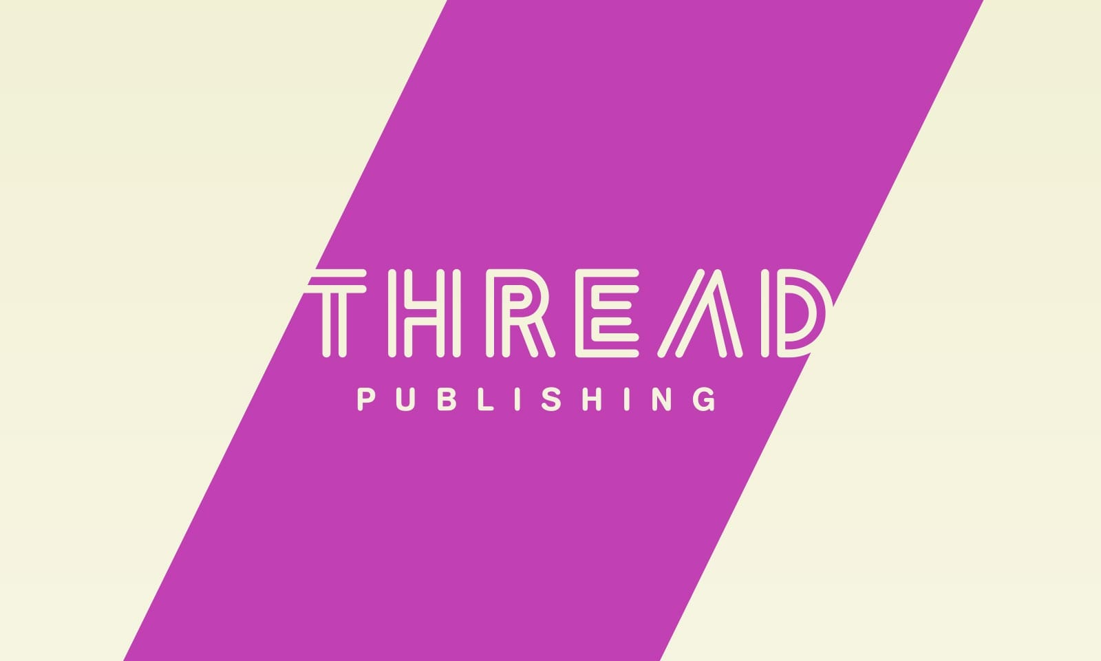 Brand promise sydney, Thread Publishing masterbrand design for the socially responsible publisher.